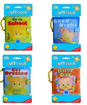 4pcs/set soft baby cloth books series