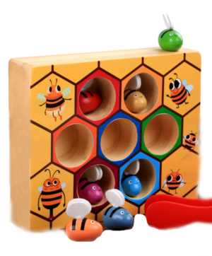 Bees and Beehive Stacking Cognitive Toy