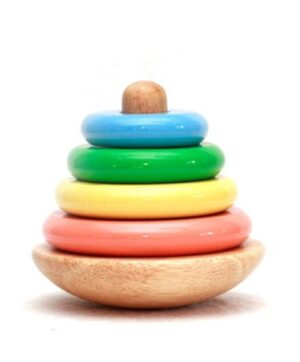 Wooden Ring Tower - 4 Colours