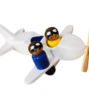 Aeroplane with Pilots - White
