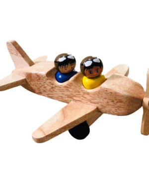 Aeroplane with Pilots - Wood Finish