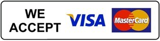 We Accept Visa Master